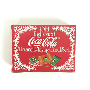 Coca Cola Old Fashioned Tin And Playing Card Set Dual Deck New Sealed