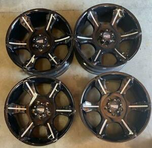 Moto Metal Wheels Rims 20 Inch 5x127 18mm Gloss Black With Milled Spokes