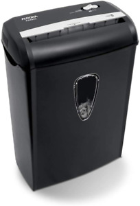 Paper credit Card Shredder With Basket 8 sheet Cross cut For Home Small Office