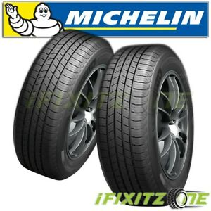 2 Michelin Defender T h 195 65r15 91h Tires 820ab 80000 Mile All Season New
