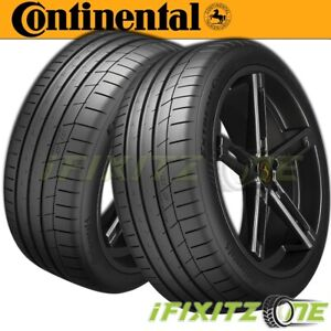 2 Continental Extremecontact Sport Summer High Performance 205 55zr16 91w Tires