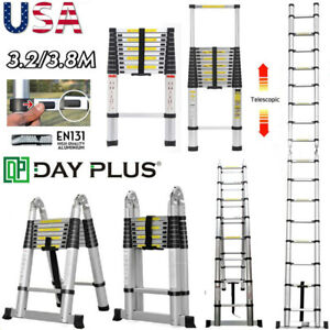 Telescopic Aluminum Alloy Extended Attic Portable Step Ladder 3 2m 5m Folding