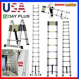 Telescopic Aluminum Alloy Extended Portable Folding Step Ladder 3 8m 5m 2 5 2 5