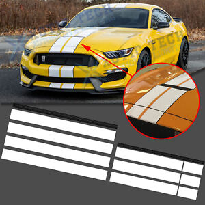 Sporty Decal Hood Roof Trunk White Black Stripe Stickers For Ford Mustang 15 20