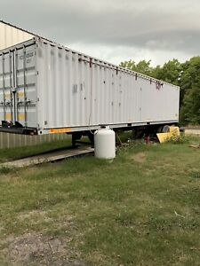 Shipping Container Office Shop On Pro Haul Trailer Ac Heat Home Dual Doors