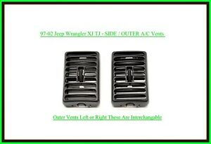 97 01 Jeep Wrangler Tj Outer Dash Air Vents Panel A c Heat Vent Oem Pair Agate