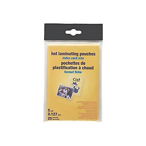 Myofficeinnovations 5 Mil Index Card Size Thermal Laminating Pouches 25 Pack
