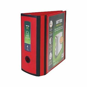 Myofficeinnovations Better 4 inch 3 Ring View Binder Red 1618291