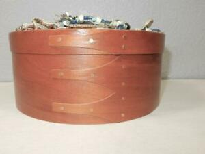 Vintage Wooden Pantry Finger Box Shaker Style Southwest Jewelry Cover 8 X 3 1 2