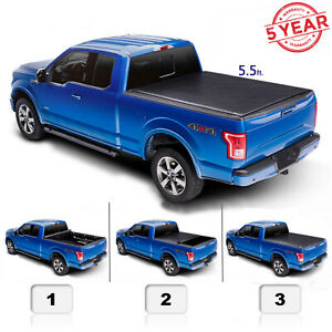 5 5 Ft 67 1 For 15 20 F150 Pickup Truck Roll Up Soft Bed Tonneau Cover