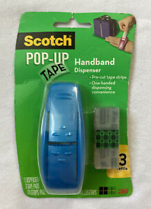 Scotch 3m Pop up Tape Handband Dispenser W 3 Refills 96 g 3w Assorted Color New