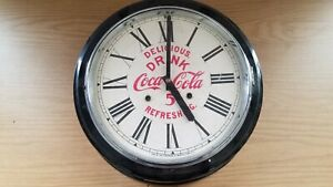 Vintage Coca-cola Wall Clock by The E. Ingraham Co *Loose Part *Untested *READ