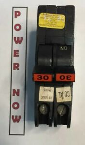 Federal Pacific Fpe Stab lok Breaker 2 Pole 30 Amp 240v Thin Ships Today