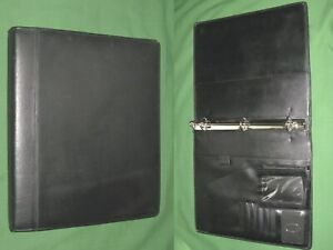 8 5x11 1 0 Black Leather Buxton Planner 3 Ring Binder Franklin Covey Monarch