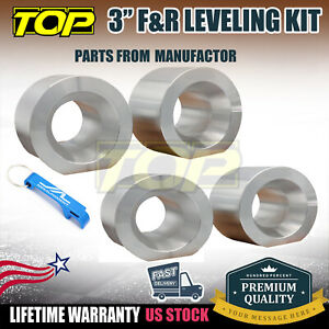 3 Front Rear Leveling Lift Kit Silver Aluminum For Jeep Grand Cherokee Zj 93 98