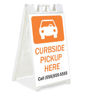 Curbside Pickup Signicade A frame Sign Sidewalk Sandwich Pavement Sign Outdoor
