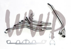 Stainless Round Exhaust Header Manifold For 77 83 Nissan Datsun 280z 280zx L28e