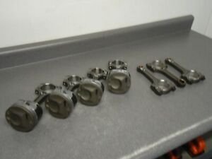 Gm Ecotec Engine Pistons And Rods Parts Lot Possibly New Takeoffs
