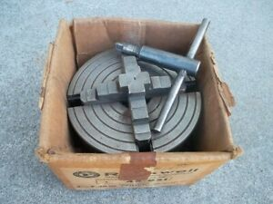 Rockwell 4 Jaw Chuck For Lathe 46 951 4 Independent With Box And Key