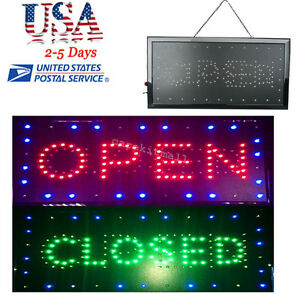 2in1 Open closed Led Sign Store Shop Business Display Neon 9 8 20 47 0 8in 8w A