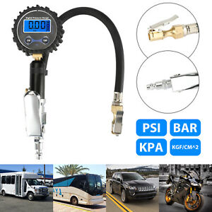 Digital Tire 200 Psi Inflator With Pressure Gauge Air Chuck For Truck car bike