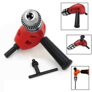 1 X 3 8 90 Degree Electric Right Angle Drill Extension Attachment Chuck Adapter