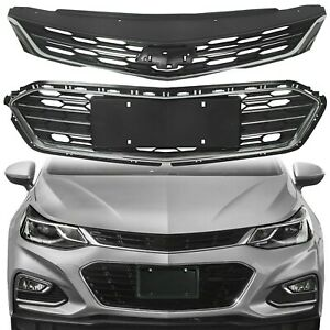 Front Bumper Upper Grill Middle Lower Grille For Chevy Cruze 2016 2017 2018