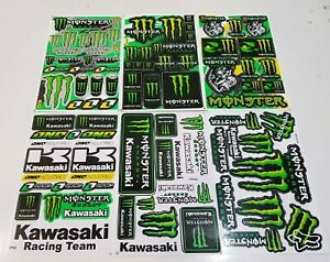 6 Rockstar Energy Motocross Decal Racing Stickers Bike Moto Gp Helmet