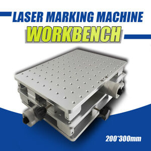 Xy Axis Adjustable Workbench 2 Axis Positioning Work Table For Laser Marking