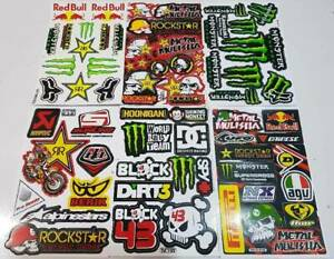 6 Stickers Rockstar Energy Motorcycle Bike Motocross Helmet Car Truck Atv Motogp