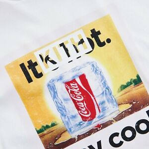 🔥❇️Kith x Coca-Cola Vintage Stay Cool Tee White sz L❇️🔥DS BRAND NEW SHIP TODAY
