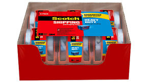 3m Scotch Clear Shipping Packing Tape 1 88 6 Rolls 800 Dispenser Heavy Duty Box