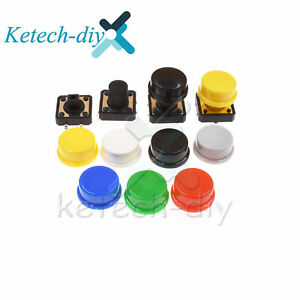 Momentary Tactile Push Button Touch Switch 4p W cap 12x12x7 3 10 12mm New L2kd