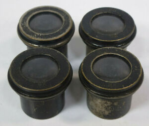 Lot 4x Vintage S l Co Spencer Lens Brass Microscope Eyepieces 9x