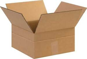 The Packaging Wholesalers 12 X 12 X 6 Multi depth Shipping Boxes Bs121206md