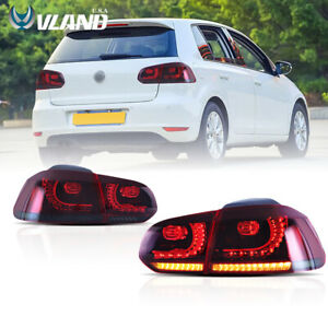 Vland Led Red Smoked Tail Lights For Vw Volkswagen Golf 6 Mk6 Gti R 2010 2014
