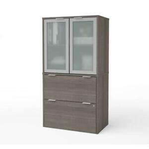 I3 Plus Lateral File With Storage Cabinet In Bark Gray