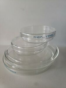 Pyrex Labware Reusable Glass Petri Dishes Set Of 4