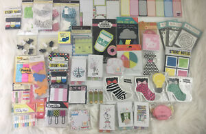 Random Lot Of Sticky Notes List And Memo Pads Paper Clips Flags Etc