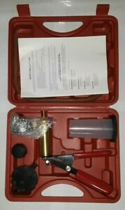 Handheld Vacuum Pressure Pump Tester Brake Bleeding Kit W Case Unsealed Nib