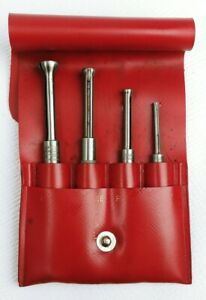 Vintage Lufkin 78s Set Of 4 Small Hole Gauges W Case Made In Usa