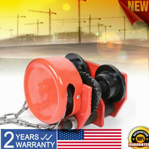1 Ton Push Beam Trolley For I Beam Gantry Crane Hoist Winch Gcl 1 Monorail Car