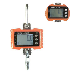 1000kg 1ton 2000 Lbs Digital Crane Scale Heavy Duty Lcd Hanging Scale Remote