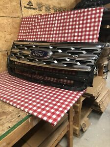 2018 2019 Ford Explorer Crome And Silver Oem Grille