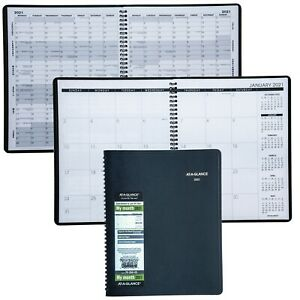 2021 At a glance 70 260 70 260 05 Monthly Planner 8 7 8 X 11 Black Cover