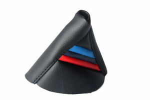 Automatic Shift Boot Cover Leather For Bmw X3 E83 03 10 Black M Style Stripes