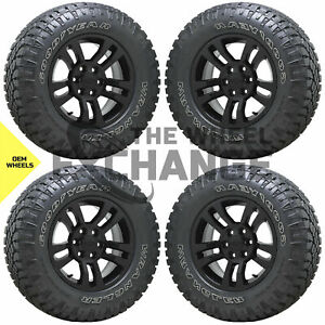 18 Gm Sierra Silverado 1500 Truck Black Wheels Rims Tires Factory Oem Set 5646