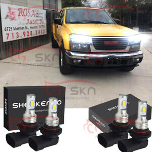 For 2004 2012 Chevy Colorado Gmc Canyon 4x Led Headlight Bulb High Low Beam Kit