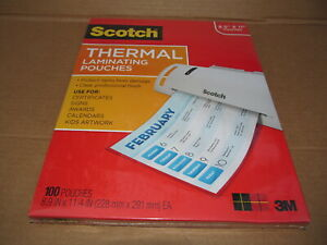 New 100x Scotch Thermal Laminating Pouches Size 8 9 X 11 4 Tp3854 100