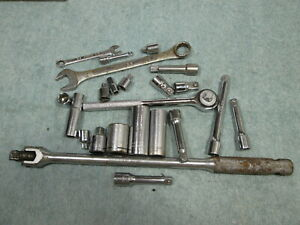 Tool Lot 23 Pieces 1 2 Breaker Bar 3 4 Extensions Wrench Sockets Deep
